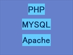 PHPとMYSQLとApacheの文字画像サムネイル